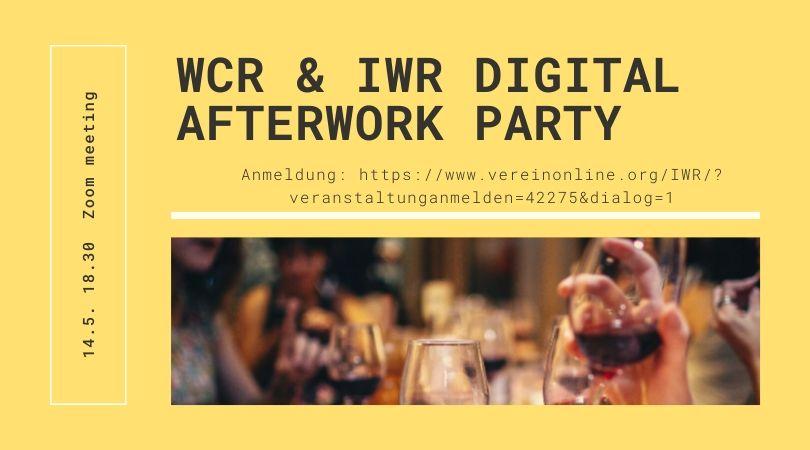 Digital Afterwork  14.5. um 18.30 - WCR und IWR